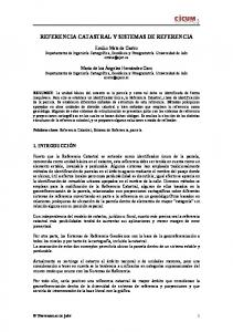 REFERENCIA CATASTRAL Y SISTEMAS DE REFERENCIA