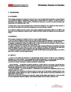 REFERENCIAL NACIONAL DE CERAMICA
