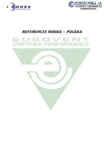 REFERENCJE RHOSS POLSKA
