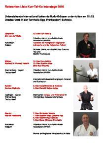 Referenten Liste Kun-Tai-Ko Interstage 2016