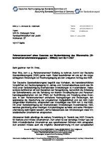 Referentenentwurf eines Gesetzes zur Modernisierung des Bilanzrechts (Bilanzrechtsmodernisierungsgesetz
