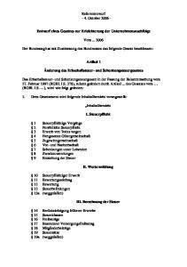 Referentenwurf - 4. Oktober Entwurf eines Gesetzes zur Erleichterung der Unternehmensnachfolge. Vom