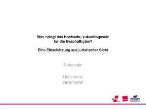 Referentin. Ute Lorenz GEW NRW