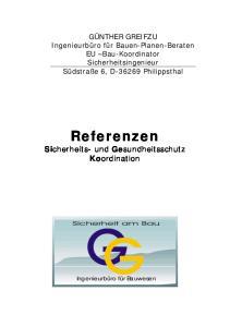 Referenzen Sicherheits- und Gesundheitsschutz Koordination