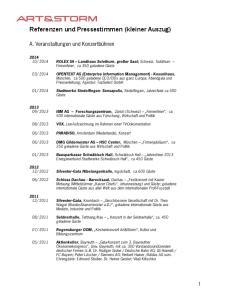 Referenzen und Pressestimmen (kleiner Auszug)