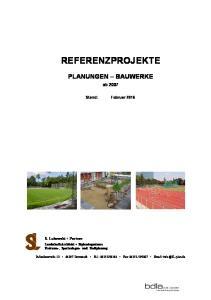 REFERENZPROJEKTE PLANUNGEN BAUWERKE. ab Stand: Februar 2016
