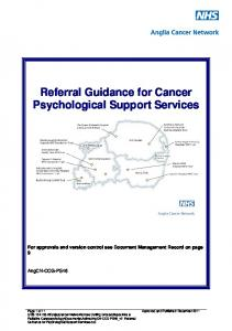Referral Guidance for Cancer Psychological Support Services