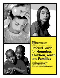 Referral Guide for Homeless Children, Youth and Families
