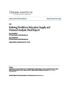 Refining Workforce Education Supply and Demand Analysis: Final Report
