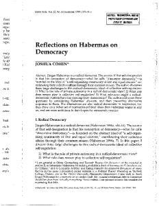 Reflections on Habermas on Democracy