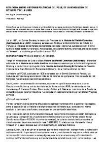 REFLEXIÓN SOBRE HISTORIAS POLÉMICAS DEL PCUS, DE LA REVOLUCIÓN DE OCTUBRE Y DE LA URSS
