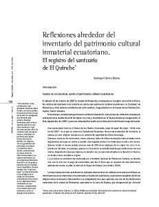 Reflexiones alrededor del inventario del patrimonio cultural inmaterial ecuatoriano. El registro del santuario de El Quinche *
