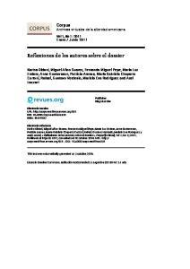 Reflexiones de los autores sobre el dossier