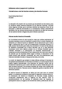 Reflexiones sobre el proyecto de Ley Minera: Contradicciones entre los derechos mineros y los derechos humanos