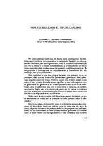 REFLEXIONES SOBRE EL REPUBLICANISMO