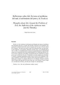 Reflexiones sobre Job. En torno al problema del mal, el sufrimiento del justo y la Teodicea