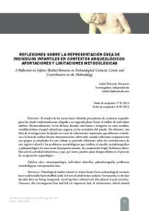 REFLEXIONES SOBRE LA REPRESENTACIÓN ÓSEA DE INDIVIDUOS INFANTILES EN CONTEXTOS ARQUEOLÓGICOS: APORTACIONES Y LIMITACIONES METODOLÓGICAS