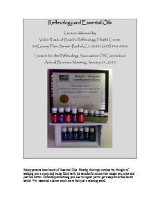 Reflexology and Essential Oils