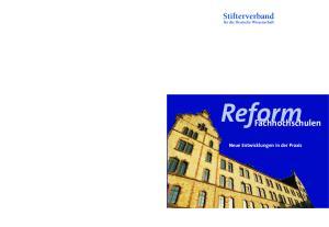 Reform. Fachhochschulen. Neue Entwicklungen in der Praxis