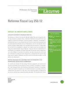 Reforma Fiscal Ley
