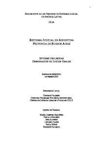 REFORMA JUDICIAL EN ARGENTINA PROVINCIA DE BUENOS AIRES