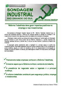 Reforma Trabalhista deve gerar impactos positivos no emprego e nos investimentos
