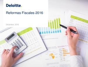 Reformas Fiscales Diciembre, 2015