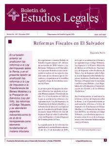 Reformas Fiscales en El Salvador