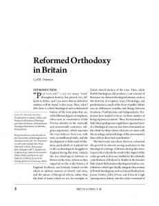 Reformed Orthodoxy in Britain