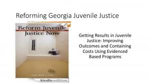 Reforming Georgia Juvenile Justice. Getting Results in Juvenile Justice: Improving Outcomes and Containing Costs Using Evidenced Based Programs