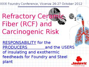 Refractory Ceramic Fiber (RCF) and Carcinogenic Risk