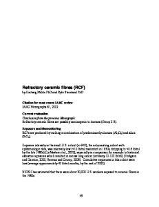 Refractory ceramic fibres (RCF)