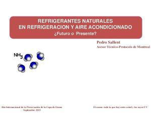 REFRIGERANTES NATURALES EN REFRIGERACION Y AIRE ACONDICIONADO