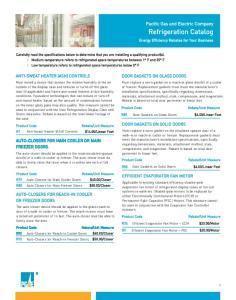 Refrigeration Catalog