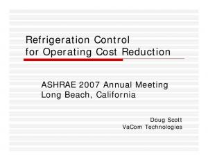 Refrigeration Control for Operating Cost Reduction