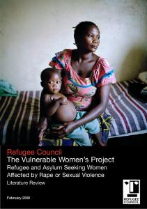 Refugee Council The Vulnerable Women s Project Refugee and Asylum Seeking Women Affected by Rape or Sexual Violence