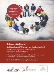 Refugees Welcome! Aufbruch und Wandel an Hochschulen?