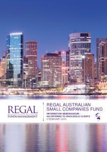 REGAL AUSTRALIAN SMALL COMPANIES FUND