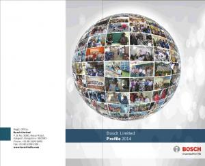 Regd. Office: Bosch Limited. Bosch Limited