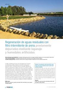 Regeneración de aguas residuales con filtro intermitente de arena previamente depuradas mediante lagunaje y humedales artificiales