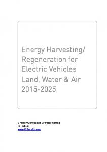 Regeneration for Electric Vehicles Land, Water & Air