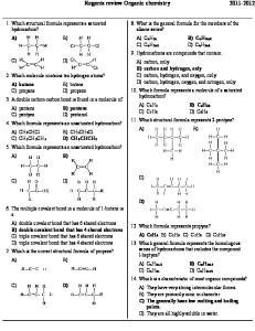 Regents review Organic chemistry