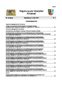 Regierung der Oberpfalz Amtsblatt