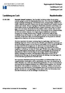 Regierungsbezirk Oberbayern Landsberg am Lech Landsberg am Lech