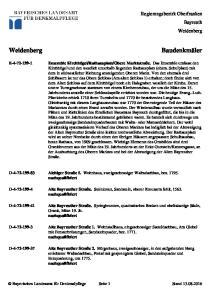 Regierungsbezirk Oberfranken Bayreuth Weidenberg