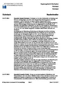 Regierungsbezirk Oberfranken Kulmbach Kulmbach