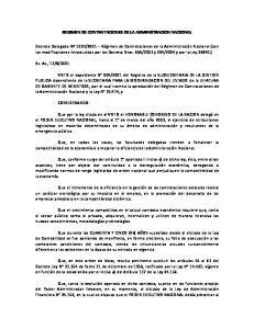 REGIMEN DE CONTRATACIONES DE LA ADMINISTRACION NACIONAL