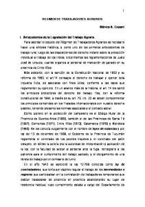 REGIMEN DE TRABAJADORES AGRARIOS