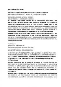 REGIMEN DE UNIDADES INMOBILIARIAS CON SECCIONES DE PROPIEDAD EXCLUSIVA Y AREAS DE PROPIEDAD COMUN