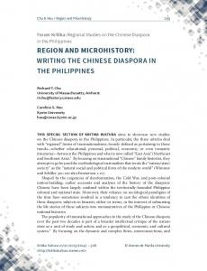 REGION AND MICROHISTORY: WRITING THE CHINESE DIASPORA IN THE PHILIPPINES